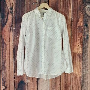 Old Navy Button Up Shirt White Anchors Medium